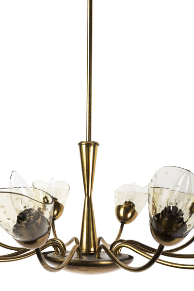 Sensational Italian Mid-Century Modernist Chandelier With Floral Motif - Art Deco Antiques  - 5