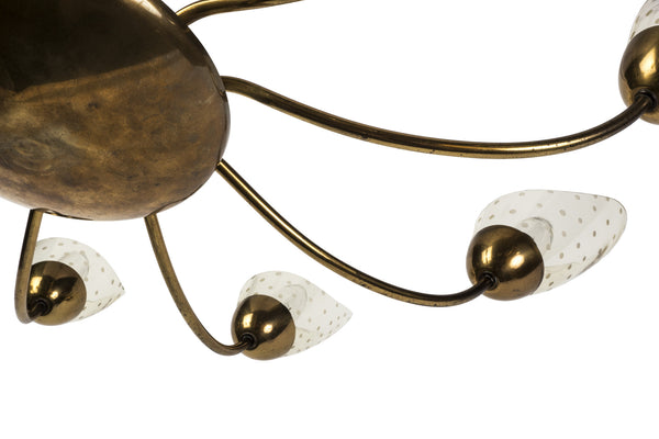 Sensational Italian Mid-Century Modernist Chandelier With Floral Motif - Art Deco Antiques  - 7