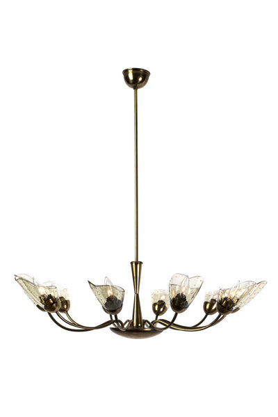 Sensational Italian Mid-Century Modernist Chandelier With Floral Motif - Art Deco Antiques  - 8
