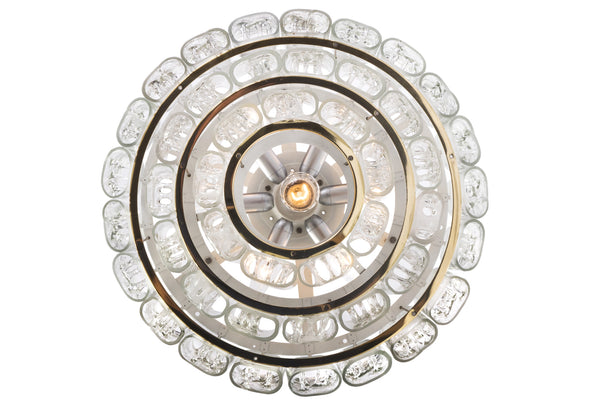 Gorgeous Mid-Century Modernist Chandelier By Doria - Art Deco Antiques  - 9