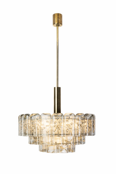 Gorgeous Mid-Century Modernist Chandelier By Doria - Art Deco Antiques  - 2