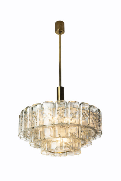 Gorgeous Mid-Century Modernist Chandelier By Doria - Art Deco Antiques  - 4