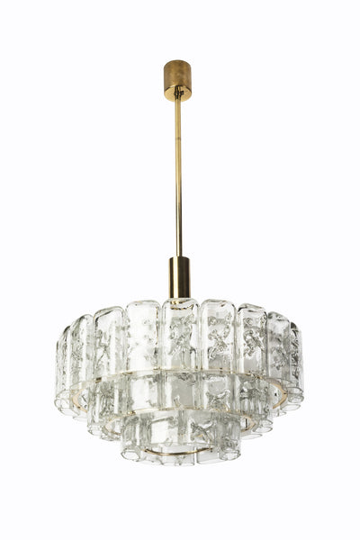 Gorgeous Mid-Century Modernist Chandelier By Doria - Art Deco Antiques  - 3