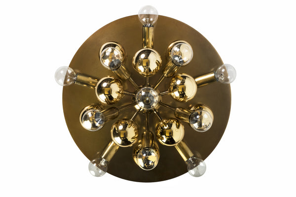Exquisite Mid-Century German Sputnik Flush Mount / Sconce - Art Deco Antiques  - 5