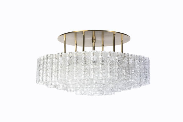 Gorgeous Mid-Century Modernist 1950's Flush Mount Chandelier - Art Deco Antiques  - 1