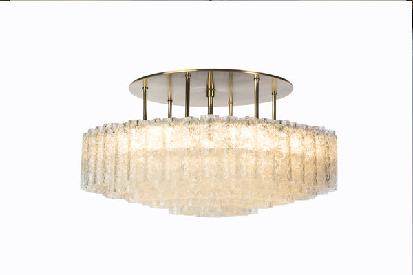 Gorgeous Mid-Century Modernist 1950's Flush Mount Chandelier - Art Deco Antiques  - 6