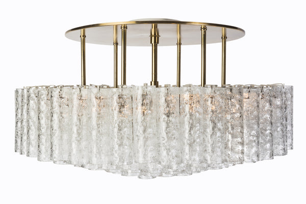 Gorgeous Mid-Century Modernist 1950's Flush Mount Chandelier - Art Deco Antiques  - 2