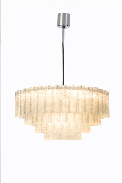 Exceptional German Multi-Tiered Glass Tube Chandelier By Doria - Art Deco Antiques  - 2
