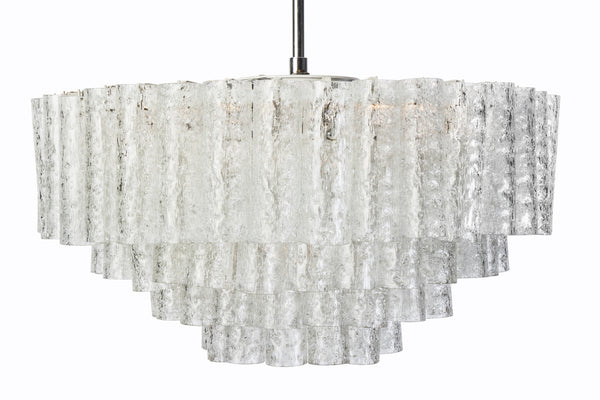Exceptional German Multi-Tiered Glass Tube Chandelier By Doria - Art Deco Antiques  - 3