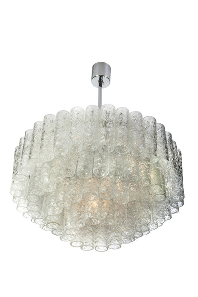 Exceptional German Multi-Tiered Glass Tube Chandelier By Doria - Art Deco Antiques  - 4