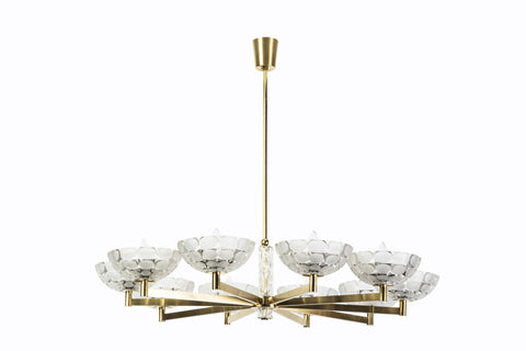 Gorgeous Austrian Mid-Century Modern Chandelier By Kalmar - Art Deco Antiques  - 1