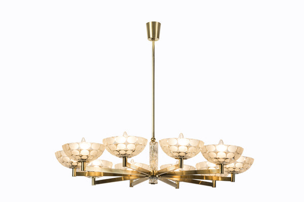 Gorgeous Austrian Mid-Century Modern Chandelier By Kalmar - Art Deco Antiques  - 3