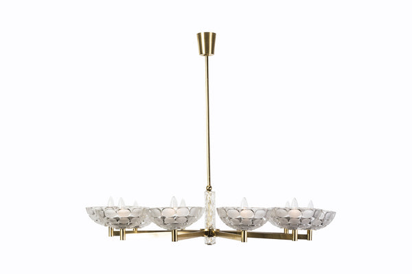 Gorgeous Austrian Mid-Century Modern Chandelier By Kalmar - Art Deco Antiques  - 2