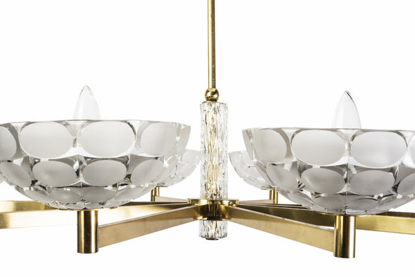 Gorgeous Austrian Mid-Century Modern Chandelier By Kalmar - Art Deco Antiques  - 4