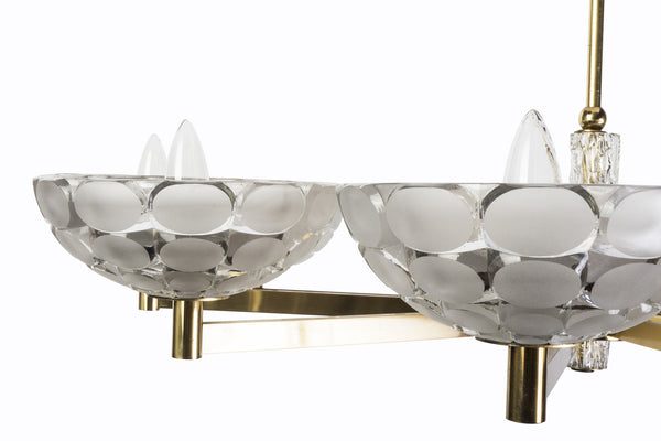 Gorgeous Austrian Mid-Century Modern Chandelier By Kalmar - Art Deco Antiques  - 5