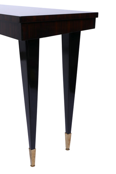 Elegant Freestanding Art Deco Console In Macassar Ebony - Art Deco Antiques  - 3