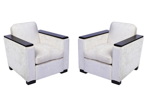 Pair of Jacques Adnet Club / Armchairs - Art Deco Antiques  - 1