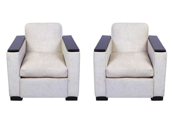 Pair of Jacques Adnet Club / Armchairs - Art Deco Antiques  - 2