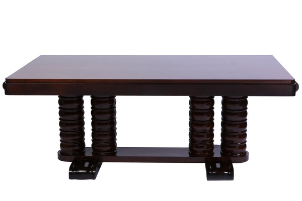 Solid Mahogany Dining Table By Gaston Poisson - Art Deco Antiques  - 3