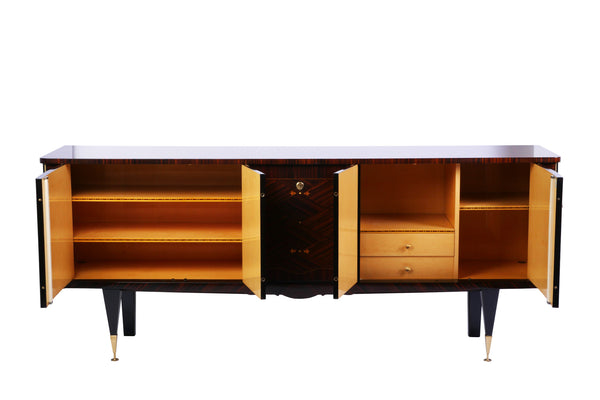 Chic French Art Deco Buffet / Sideboard In Macassar Ebony - Art Deco Antiques  - 4