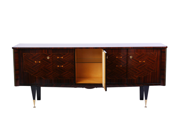 Chic French Art Deco Buffet / Sideboard In Macassar Ebony - Art Deco Antiques  - 3