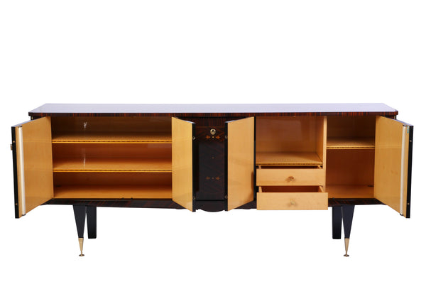 Chic French Art Deco Buffet / Sideboard In Macassar Ebony - Art Deco Antiques  - 5