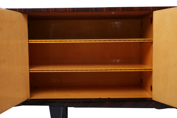 Chic French Art Deco Buffet / Sideboard In Macassar Ebony - Art Deco Antiques  - 6