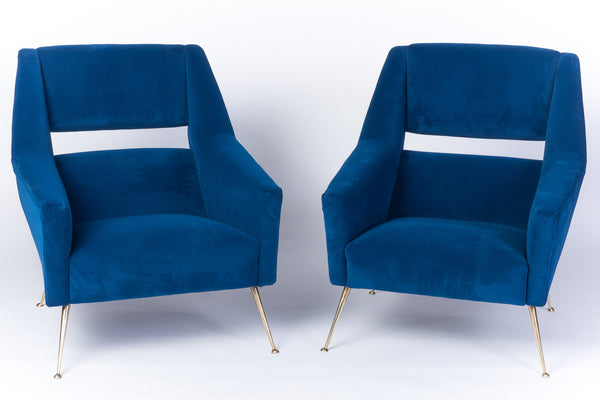 Pair Of Mid-Century Modernist Italian Club Chairs