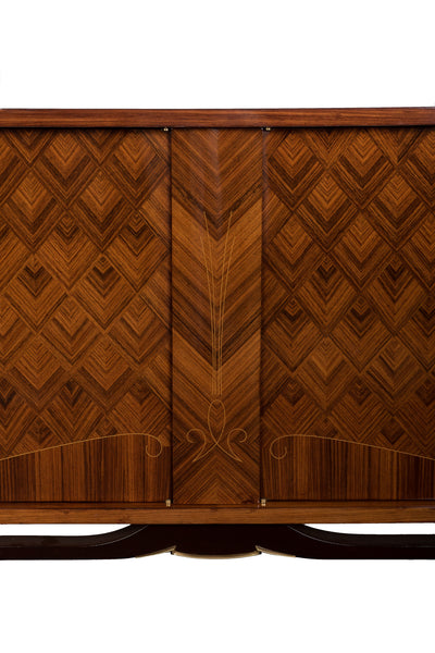 Luxe French Art Deco Buffet / Sideboard In Rio Palisander