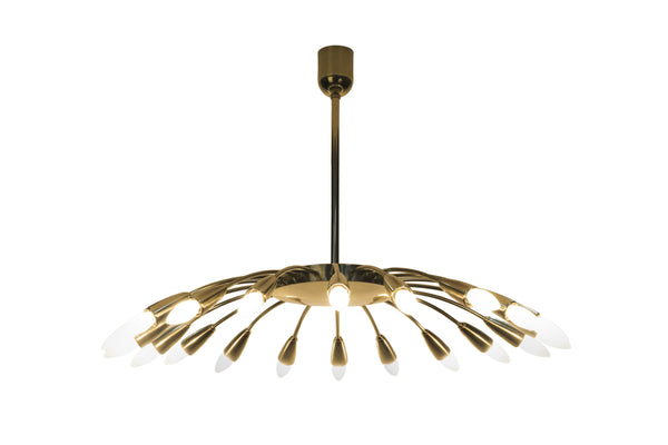 Grand Mid-Century Modernist Italian Sputnik Chandelier By Stilnovo