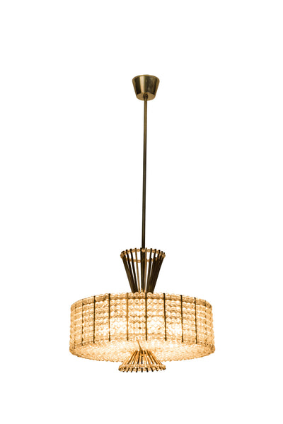 Sensational Mid-Century Modernist Chandelier By Emil Stejnar For Rupert Nikoll