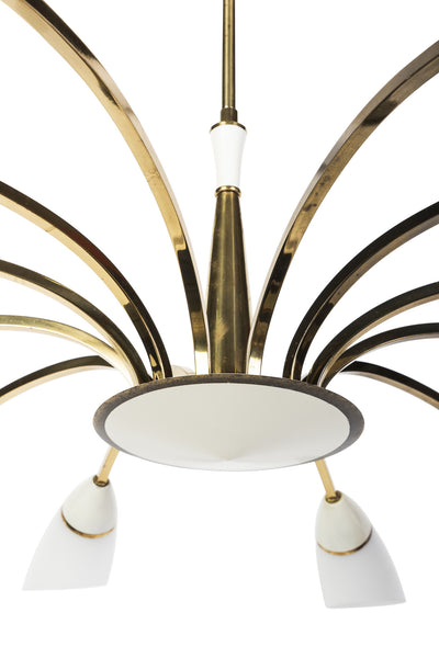 Gorgeous Italian 1950's Chandelier By Stilnovo