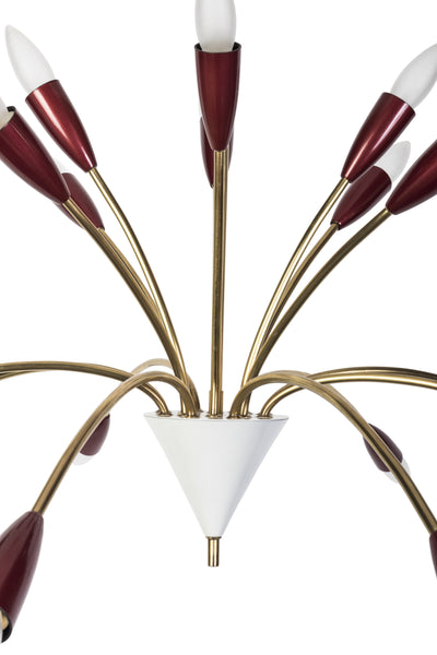 Beautiful 1950's Spider Sputnik Chandelier By Stilnovo