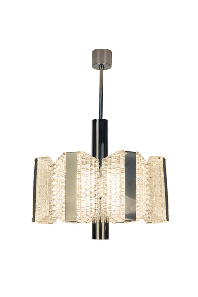 Sensational Grand Skyscraper Mid-Century Drum Chandelier By Kaiser Leuchten