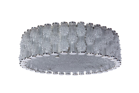 Chic Grand Kaiser Primat Ice Textured Crystal Plafoniere / Flush Mount