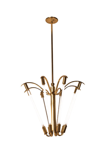 Captivating Grand German Art Deco / Bauhaus Chandelier