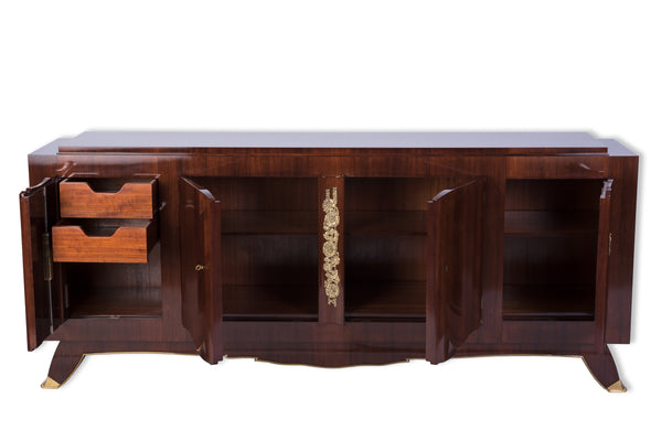 Fantastic French Art Deco Sideboard Credenza In Rosewood by Jules Leleu