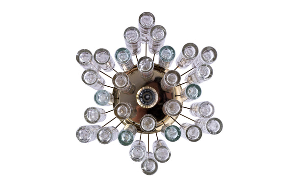 Exceptional German 1950's Doria Flush Mount