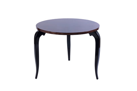 Art Deco Round Side  / Coffee Table In Zebra Wood