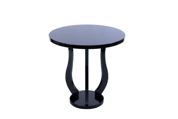 Luxe French Art Deco Round Side Table