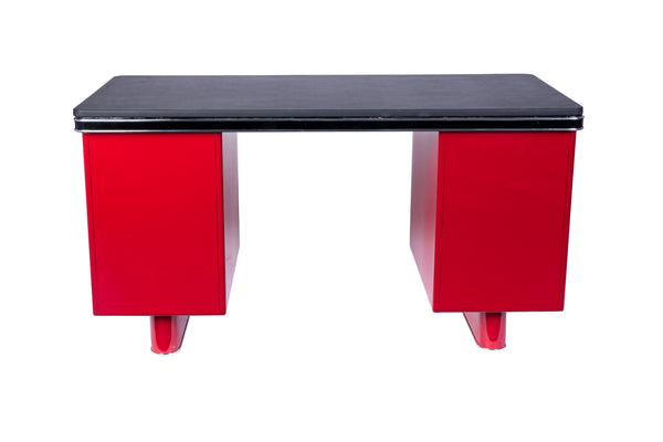 Wonderful Art Deco Metal Desk By Bauhaus