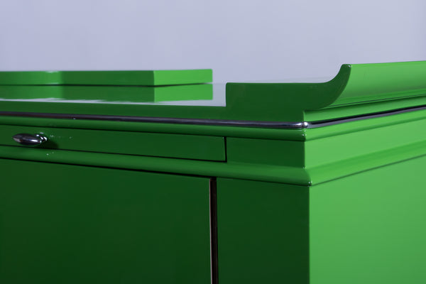 Sensational Art Deco Sideboard In Mint Lacquer