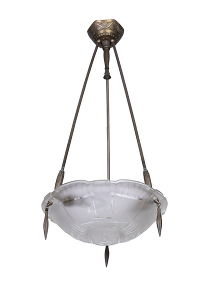 Exceptional 1920's French Art Deco Chandelier By Ernest Sabino