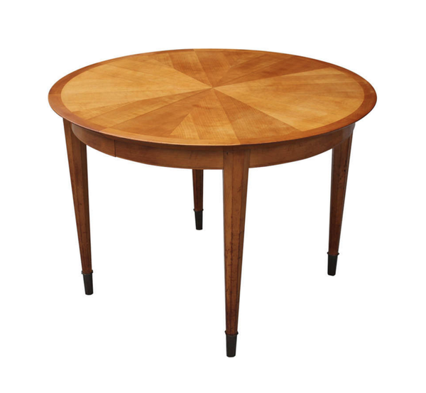 French Art Deco Sycamore Sunburst Dining Table by Dominique. - Art Deco Antiques  - 2