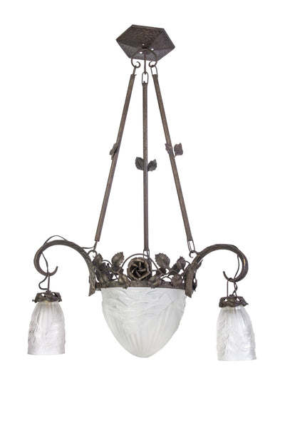 Magnificent Early French Art Deco Chandelier By Charles Schneider - Art Deco Antiques  - 1