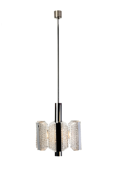 Sensational Mid-Century Drum Chandelier By Kaiser Leuchten - Art Deco Antiques  - 2