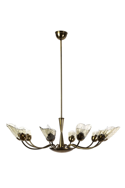 Sensational Italian Mid-Century Modernist Chandelier With Floral Motif - Art Deco Antiques  - 2
