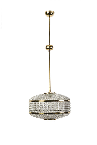 Exceptional Crystal Chandelier Pendant By Lobmeyr - Art Deco Antiques  - 1