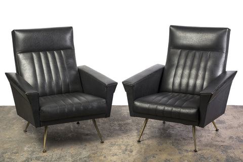 Outstanding Pair of Mid-Century Modernist Armchairs by Zanuso - Art Deco Antiques  - 1