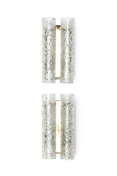 Sophisticated Pair Of German 1960's Tubular Sconces By Doria - Art Deco Antiques  - 1